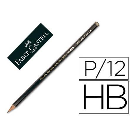Lapices de grafito Faber Castell 9000 HB