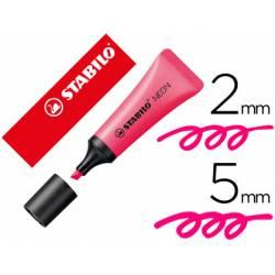 Rotulador Stabilo fluorescente rosa neon