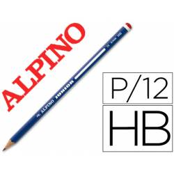 Lapices de grafito Alpino Junior HB