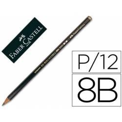 Lapices de grafito Faber Castell 9000 8B