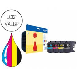 Ink-jet Brother LC121VALBP pack 4 colores 300 pag