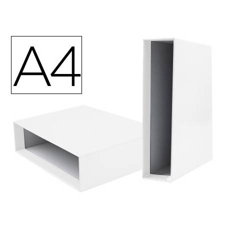 Caja archivador Liderpapel de palanca Din A4 documenta Blanco