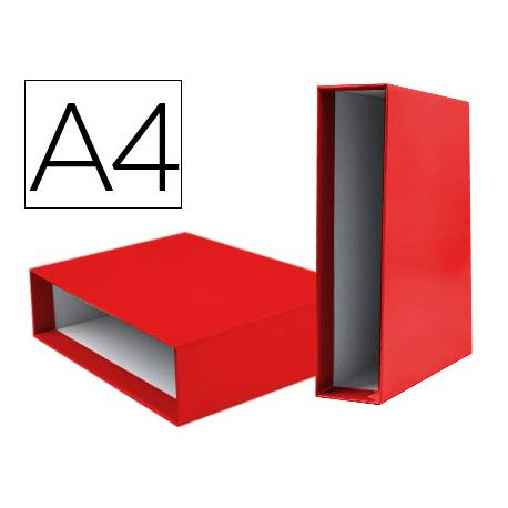 Caja archivador Liderpapel de palanca Din A4 documenta Rojo