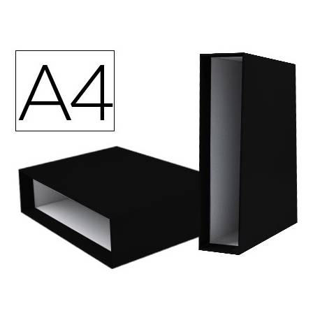 Caja archivador Liderpapel de palanca Din A4 documenta Negro
