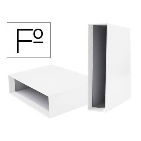 Caja archivador Liderpapel de palanca Folio documenta Blanco