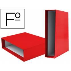 Caja archivador Liderpapel de palanca Folio documenta Rojo