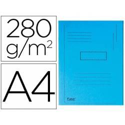 Subcarpeta cartulina Exacompta A4 azul 280g/m2 reciclada 2 solapas interiores