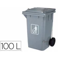 Papelera contenedor Q-Connect plastico 100 L gris
