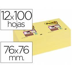 Post-it ® Bloc notas quita y pon 76 x 76 mm amarillo