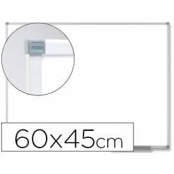 Pizarra Blanca Vitrificada Magnetica marco de aluminio 60x45 Nobo