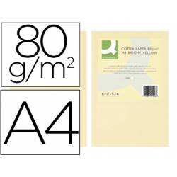 Papel color Q-connect A4 80g/m2 pack 500 hojas Crema