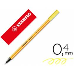 Rotulador Stabilo point 88 amarillo neon