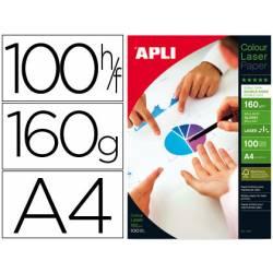 Papel foto laser Apli Glossy 160 g/m2