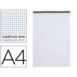 Bloc de notas Din A4 encolado Liderpapel cuadricula 4 mm