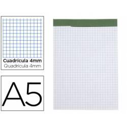 Bloc de notas Din A5 encolado Liderpapel cuadricula 4 mm