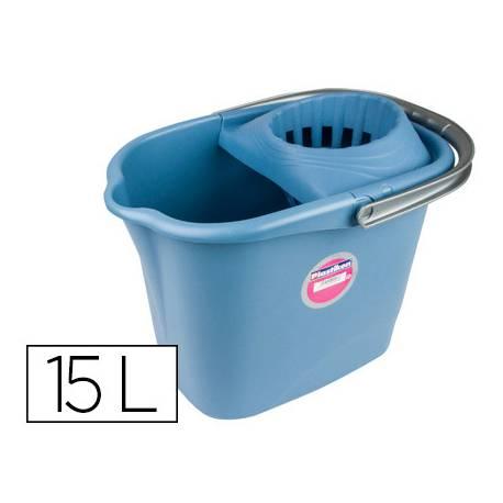 Cubo de fregona Scottex con escurridor 15 l color azul
