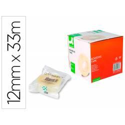 Cinta adhesiva Q-Connect 33mt x 12mm encelofanada