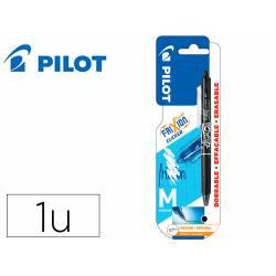BOLIGRAFO PILOT FRIXION CLICKER BORRABLE 0,7 MM PUNTA MEDIA NEGRO EN BLISTER