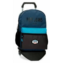 Mochila Escolar marca Pepe Jeans Skyler con Carro 44x31x15cm