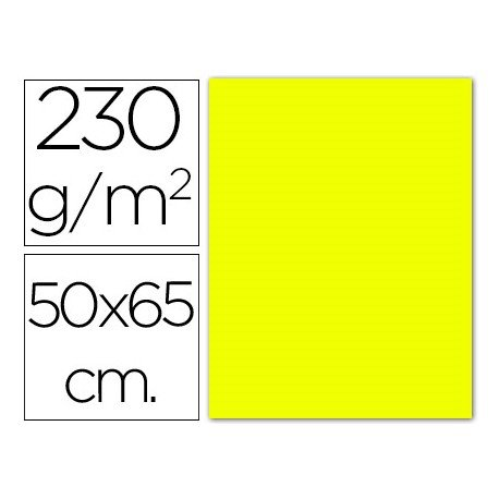 Cartulina amarillo fluorescente Sadipal