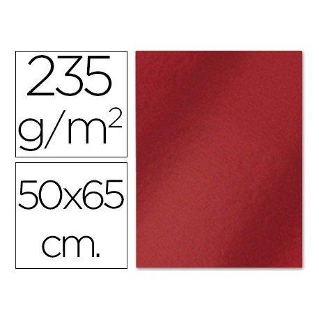 Cartulina metalizada Liderpapel color rojo 235 g7m2