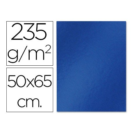 Cartulina metalizada Liderpapel azul 235 g/m2