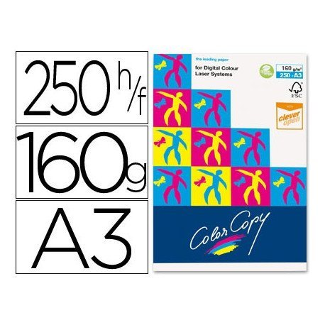 Papel multifuncion Mondi Color Copy A3 160 g/m2 Satinado