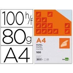 Papel de escritura A4 Liderpapel 80 g/m2 (CUADRICULA 4MM)