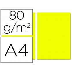 Papel color Liderpapel limon A4 80g/m2 100 hojas