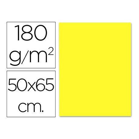Cartulina Liderpapel amarillo 180 g/m2