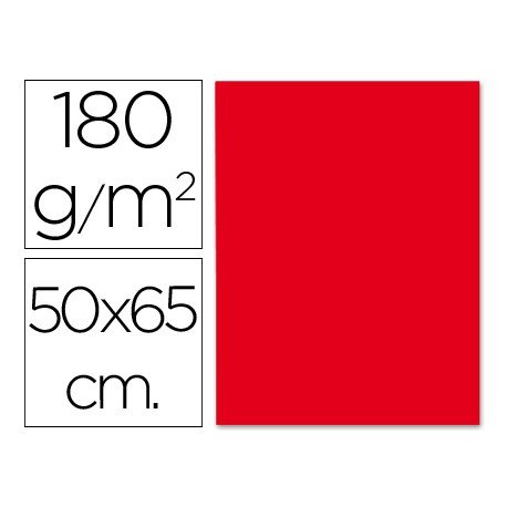 Cartulina Liderpapel 180 g/m2 color rojo