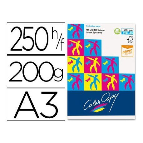 Papel multifuncion Mondi Color Copy A3 200 g/m2 Satinado