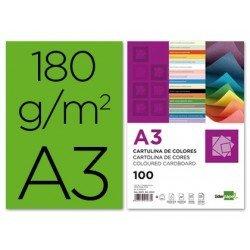 Cartulina Liderpapel verde a3 180 g/m2