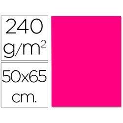 Cartulina Liderpapel color fucsia 240 g/m2