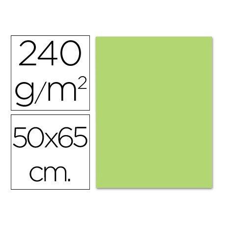 Cartulina Liderpapel verde hierba 240 g/m2