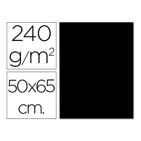 Cartulina Liderpapel negro 240 g/m2