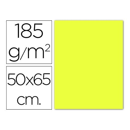 Cartulina Guarro amarillo limon 500 x 650 mm 185 g/m2