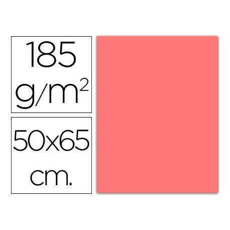 Cartulina Guarro rosa 500 x 650 mm 185 g/m2