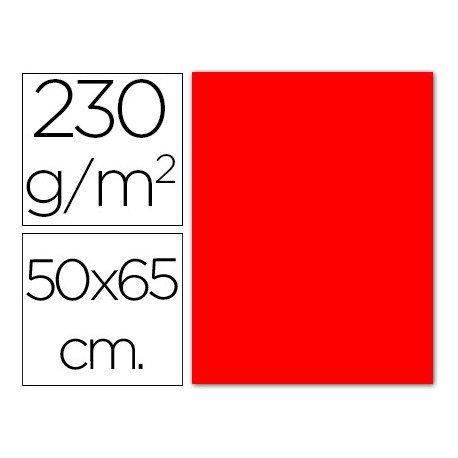 Cartulina roja fluorescente Sadipal