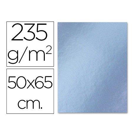 Cartulina metalizada Liderpapel plata 235 g/m2