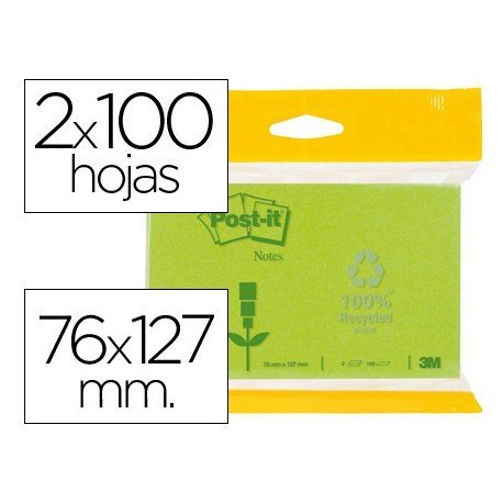 Post-it ® Bloc quita y pon 76 x 127 mm.