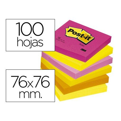 Post-it ® Bloc quita y pon colores surtidos