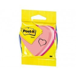 Post-it ® Bloc quita y pon forma de corazón