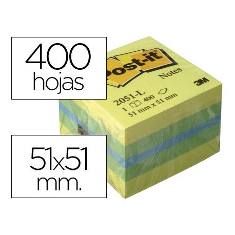 Minicubo de notas adhesivas Post-it ®