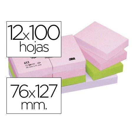 Post-it ® Bloc quita y pon colores pastel