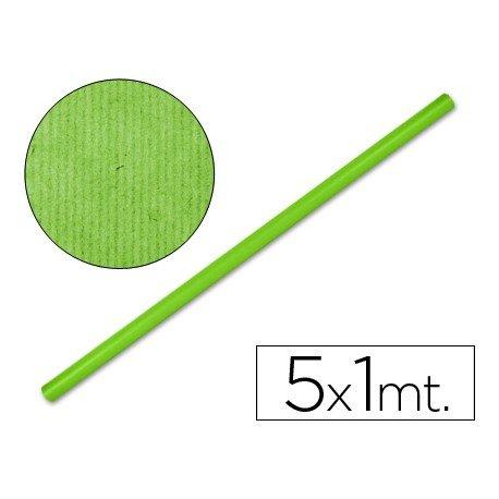 Bobina papel kraft Liderpapel 5 x 1 m verde