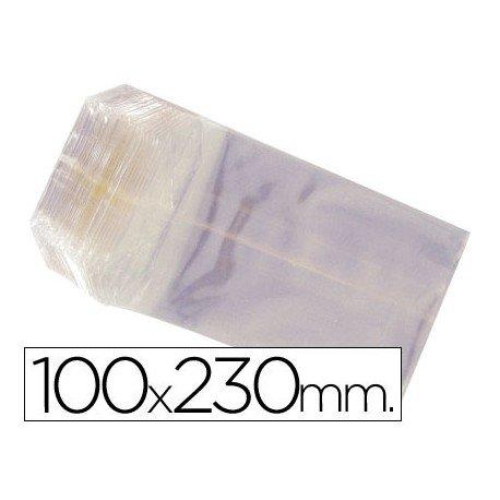Bolsas de celofan 100x230 mm. Paquete de 100 unidades.