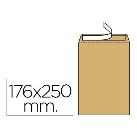 Sobres bolsa kraft N.14 B5 Liderpapel, 176x250mm