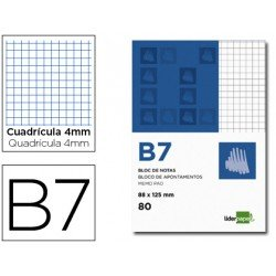 Bloc de notas Din B7 perforado Liderpapel