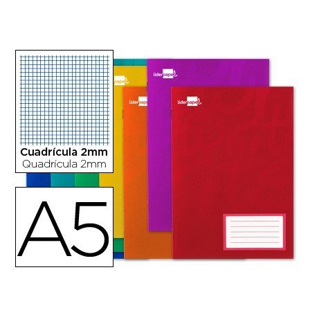 Libreta escolar grapada marca Liderpapel Write A5